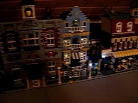 Bau einer beleuchteten Lego Stadt mit Straßenbahn - Film 5