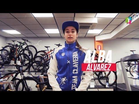 Prueba de esfuerzo en Healthing de Reebok SC de Alba Álvarez, triatleta Team Clavería 2019.