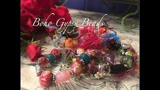Boho Gypsy Beaded Bracelets - Paper Clay & Napkins