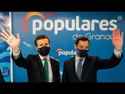 Pablo Casado, junto a Juanma Moreno, clausuran la reunión del Consejo Provincial de Alcaldes