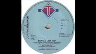 Donna Summer   Love's Unkind