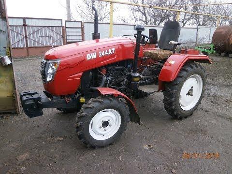отзыв и доработки китайского мини трактора DW 244 AT