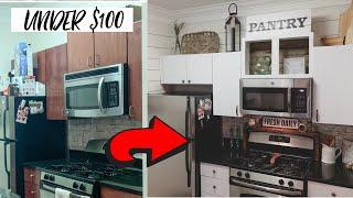 Kitchen Makeover UNDER $100 | Renter Friendly DIY | Ashleigh Lauren