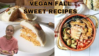 FALL RECIPES 🍂🍁 HEALTHY/RAW VEGAN! пирожное картошка, авокадо торт и яблочный пирог 🥧! УЮТ!!