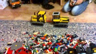 preview picture of video 'lego caterpillar VS lego fiat allis (8043 modificato)'