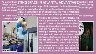 Booking Small Meeting Space in Atlanta Can Add Value to Your Business