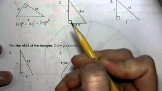 Geometry Unit 7 Day 2   Homework WS   Pythagorean Theorem
