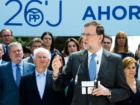 Rajoy: Vamos a apostar por la España moderada y en positivo