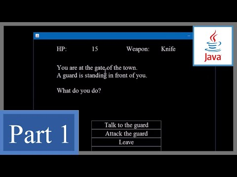 How to Make Text Adventure Game with GUI in Java P1 - Beginner's Game Programming Tutorial (Swing)
