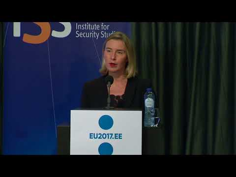 Mogherini makes keynote address at Institute for Security Studies conference on Hybrid threats