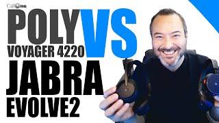 Poly Voyager 4220 UC vs Jabra Evolve2 65 Comparison Video!