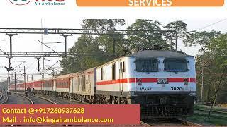 King Train Ambulance Kolkata to Guwahati with full facility