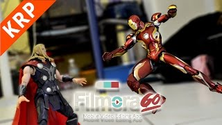 Ironman VS Thor Stop Motion | BEST VIDEO EDITING APP | FilmoraGo