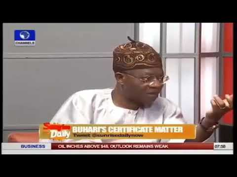 "Buhari Does Not Know Where He Kept His WAEC Result"" – Lai Mohammed (Watch Video)"
