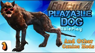 """[Animal Mods] Fallout 4 """"Dog Roleplay"""" - Playable Dog & Other Cool Canine Mods!"""