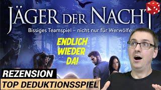 Rezension: Jäger der Nacht (KOSMOS 2020) - Top Deduktionsspiel (wie Werwölfe vom Düsterwald)