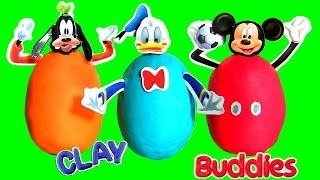 Surprise Clay Buddies Peppa Pig | Play Doh Mickey Mouse Surprise