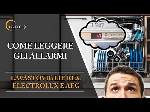 Modalità di servizio lavastoviglie Rex Electrolux Aeg, lettura codici errore e diagnostica