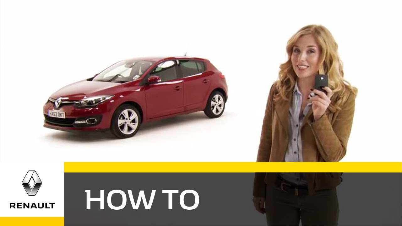 How do I use the keyless entry with the Renault Megane hatch?