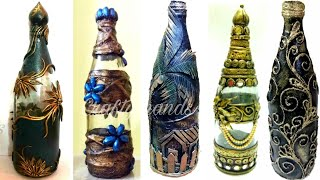 5 Amazing Antique Bottle Decor Ideas/ Bottle Decoration/diy Bottle Art