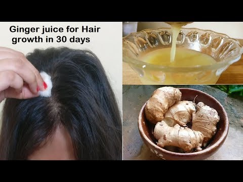ginger juice for hair