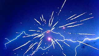 Lighting Fireworks During A Thunder Storm!