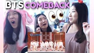 BTS - DIONYSUS + MAKE IT RIGHT + BOY WITH LUV Sisters Reaction | Comeback Special Stage M COUNTDOWN