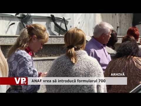 ANAF vrea să introducă formularul 700