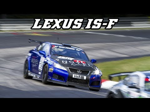 Lexus IS-F CCS-R - nice V8 sounds and downshifts (VLN)