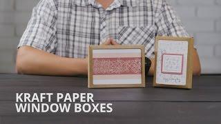 Kraft Paper Window Boxes