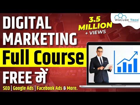 Digital Marketing Course For Beginners - Full Tutorial in 3 Hours   WsCubeTech
