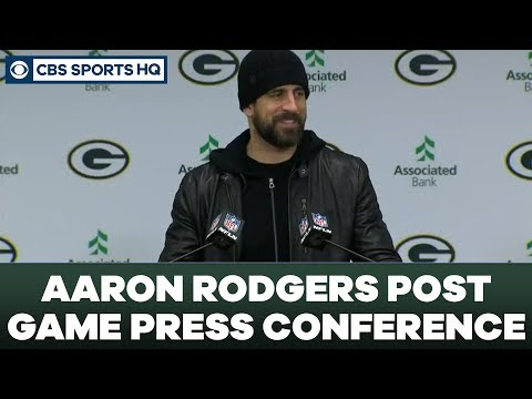 Aaron Rodgers Post Game Press Conference: NFC Divisional Round | CBS Sports HQ