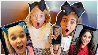 JENNA ORTEGA, CARSON LUEDERS , JOJO, (Everleigh & Ava OFFICIAL facetime video)
