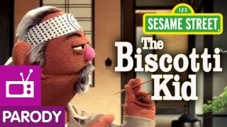 Sesame Street: Cookie's Crumby Pictures- The Biscotti Kid (Karate Kid Parody)