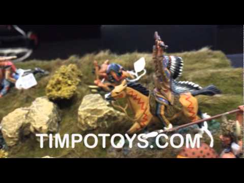 Timpotoys.com -- Indianerschlacht diorama auf der Kunststoff-figurenmesse 2014