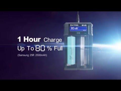 Зарядное устройство XTAR SV2 Rocket - видео 1