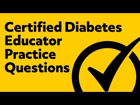 Certified Diabetes Educator Exam Practice Questions - YouTube