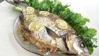 Рыба запеченная с рисом и овощами! очень вкусно!