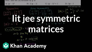 IIT JEE Symmetric and Skew-Symmetric Matrices