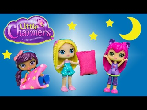Unboxing the  Little Charmers Slumber Party Sleepover Surprise Toys