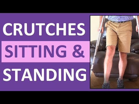 Standing and Sitting with Crutches Nursing Assistive Devices NCLEX