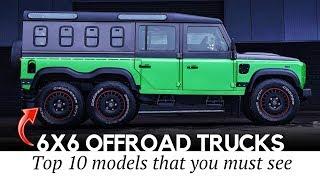 10 Brutal 6х6 Vehicles More Powerful than Ordinary Off-Road Trucks
