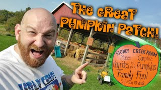 LOST IN THE STRAW MAZE at STONEY CREEK PUMPKIN PATCH !! HALLOWEEN 2020 WEST SALEM OHIO