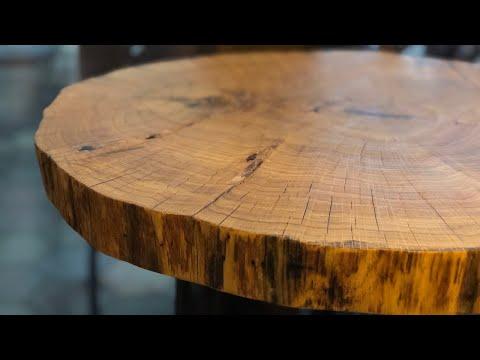 Coffee Table - Oak Cookie Slab - DIY