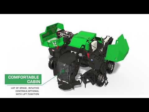 Komptech Topturn X4500 Compost Windrow Turner Overview