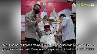 VIDEO - Bupati Pidie Roni Ahmad Disuntik Vaksin Covid-19