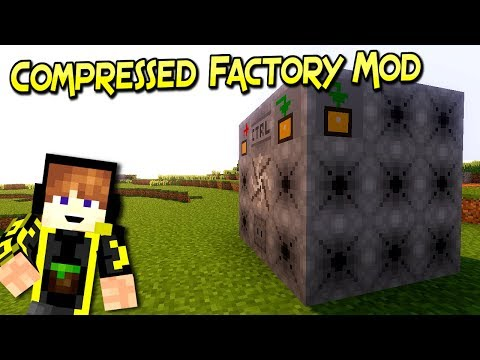 Compressed Factory Mod | Cubo Generador De Dimensiones | Minecraft 1.12.2 – 1.10.2 | Review Español