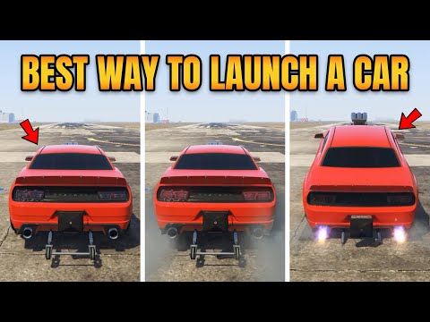 GTA 5 ONLINE BEST WAY TO LAUNCH A CAR (NORMAL VS BURNOUT VS ENGINE REV VS WHEELIE)