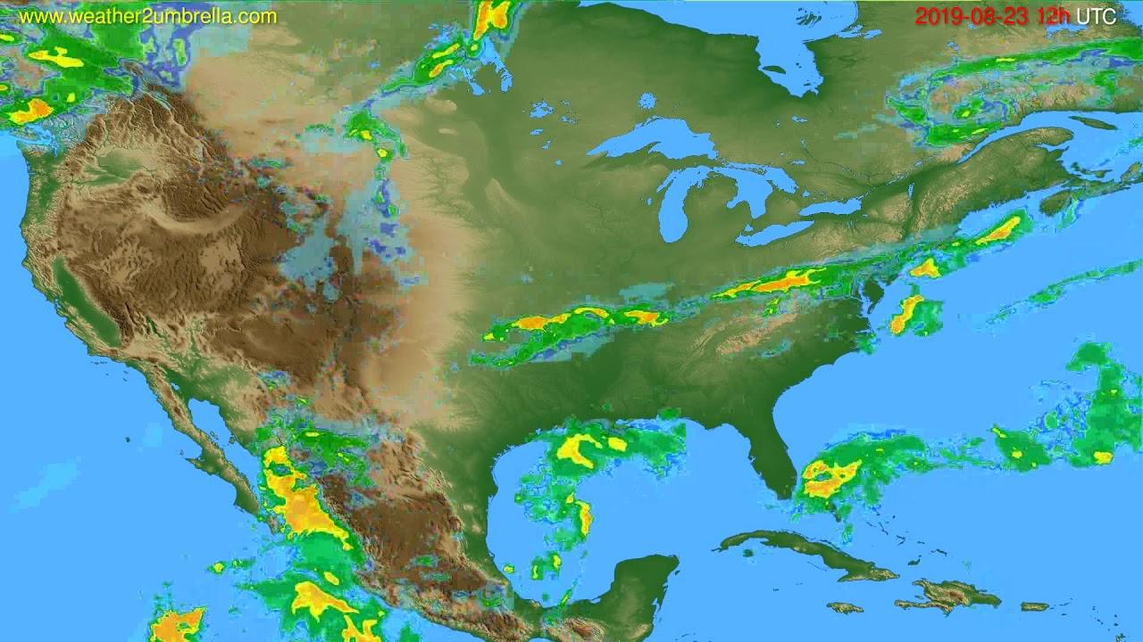 Radar forecast USA & Canada // modelrun: 00h UTC 2019-08-23