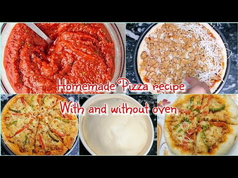Pizza recipe with and without oven